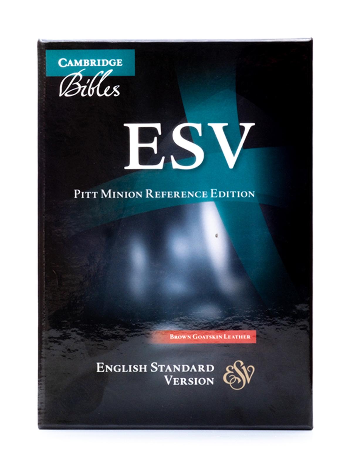 Cambridge ESV Pitt Minion Brown - Front Cover