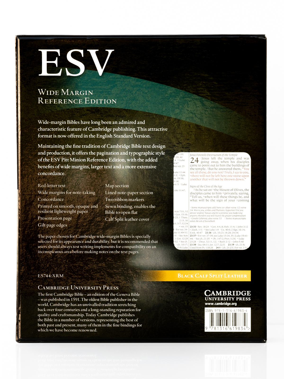 Cambridge ESV Wide Margin Back Cover