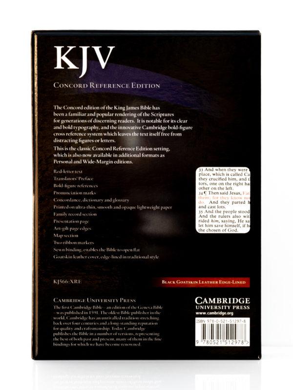 Cambridge KJV Concord Reference Bible Back Cover