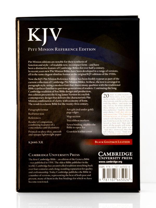 Cambridge KJV Pitt Minion Back Cover