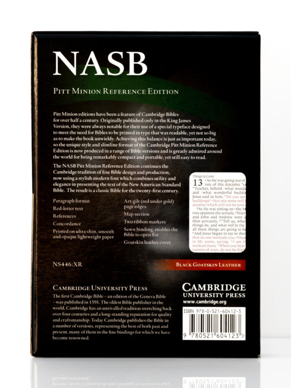 Cambridge NASB Pitt Minion Back Cover