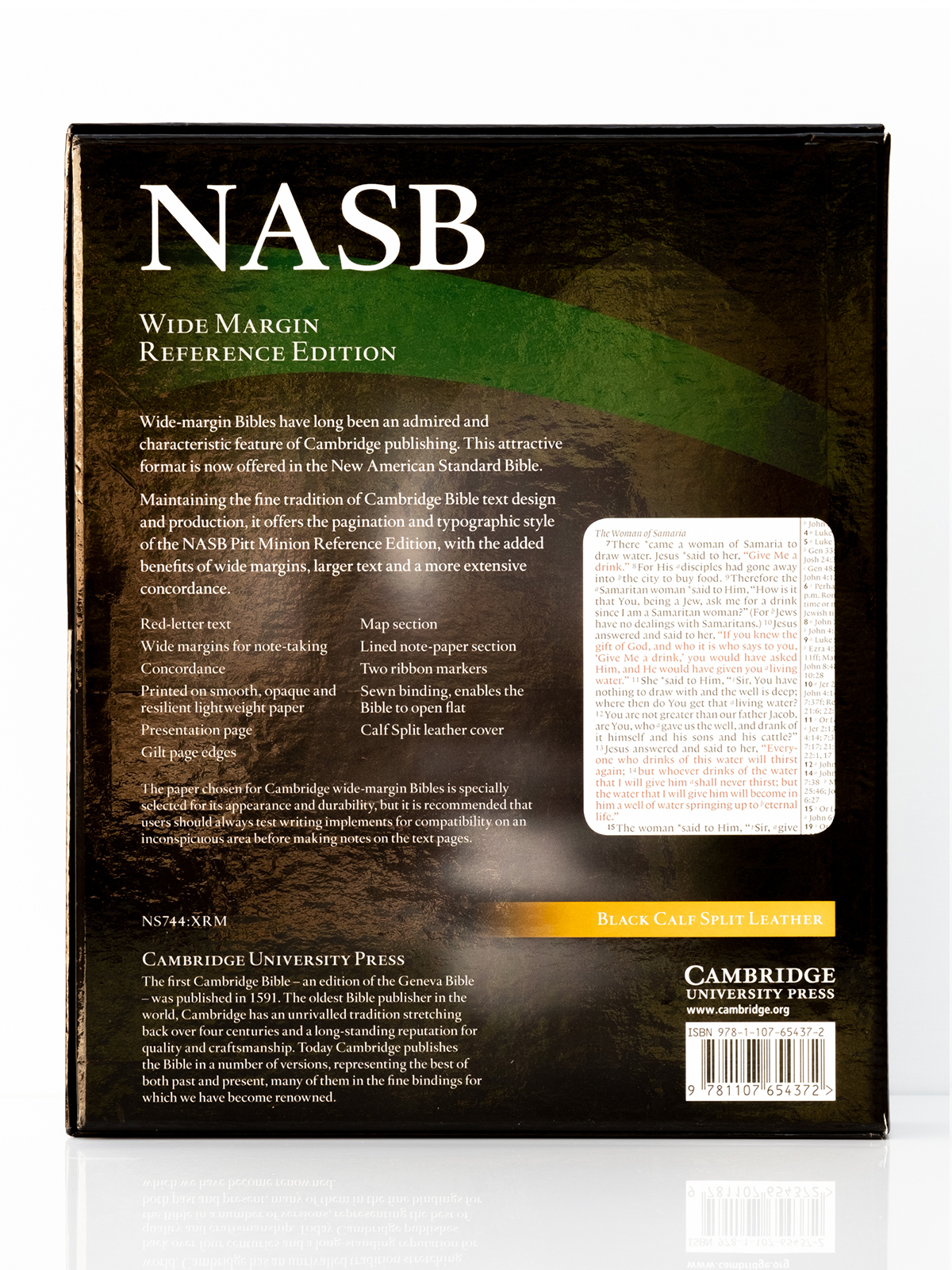 Cambridge NASB Wide Margin Back Cover