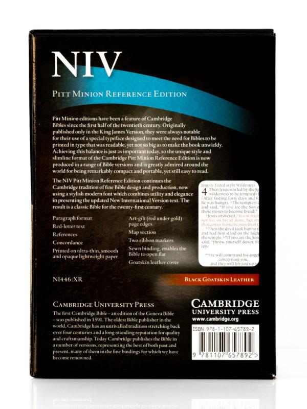 Cambridge NIV Pitt Minion Back Cover