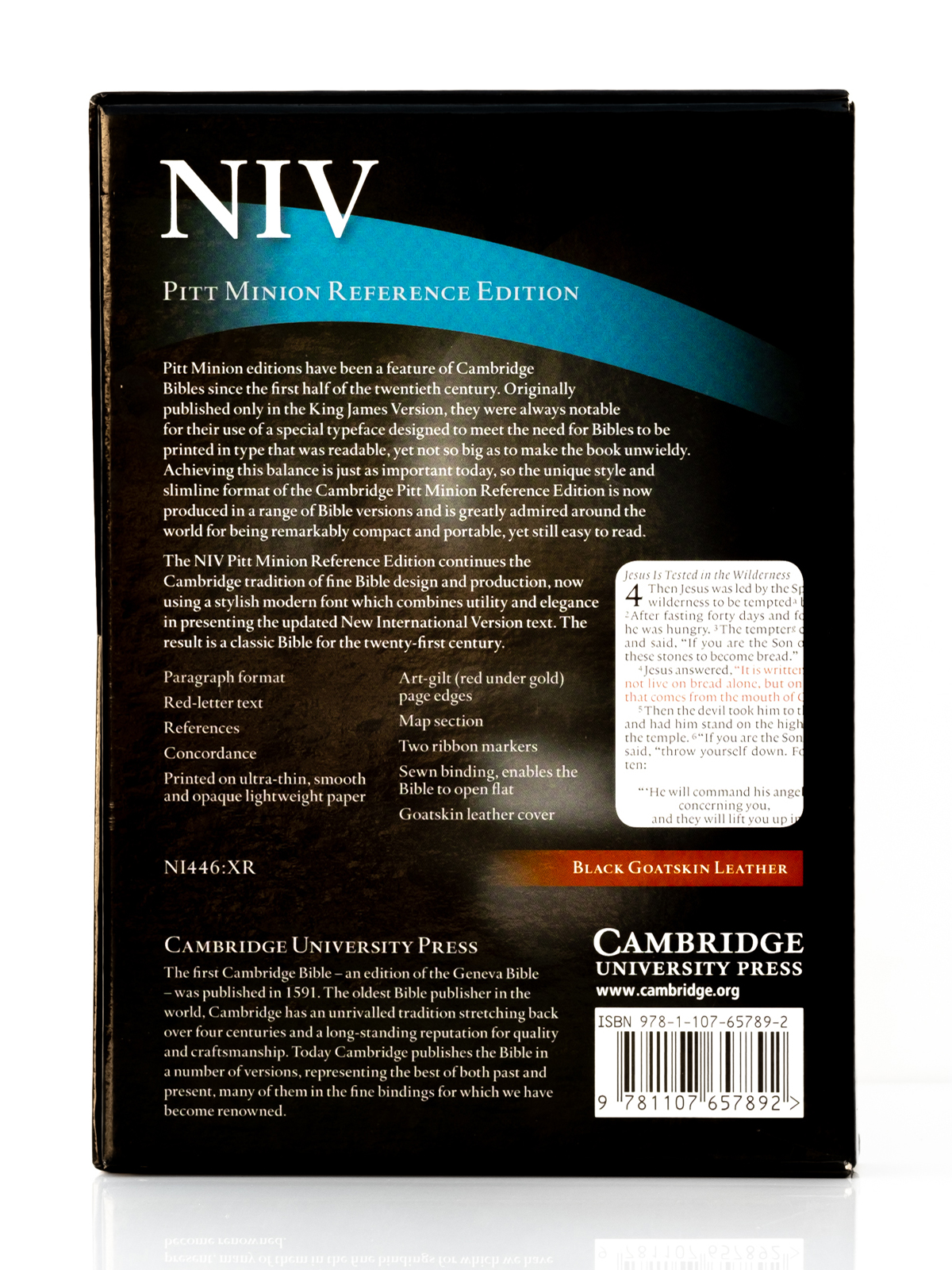Cambridge NIV Pitt Minion Back Cover