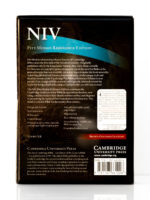 Cambridge NIV Pitt Minion Brown Goatskin Back Cover