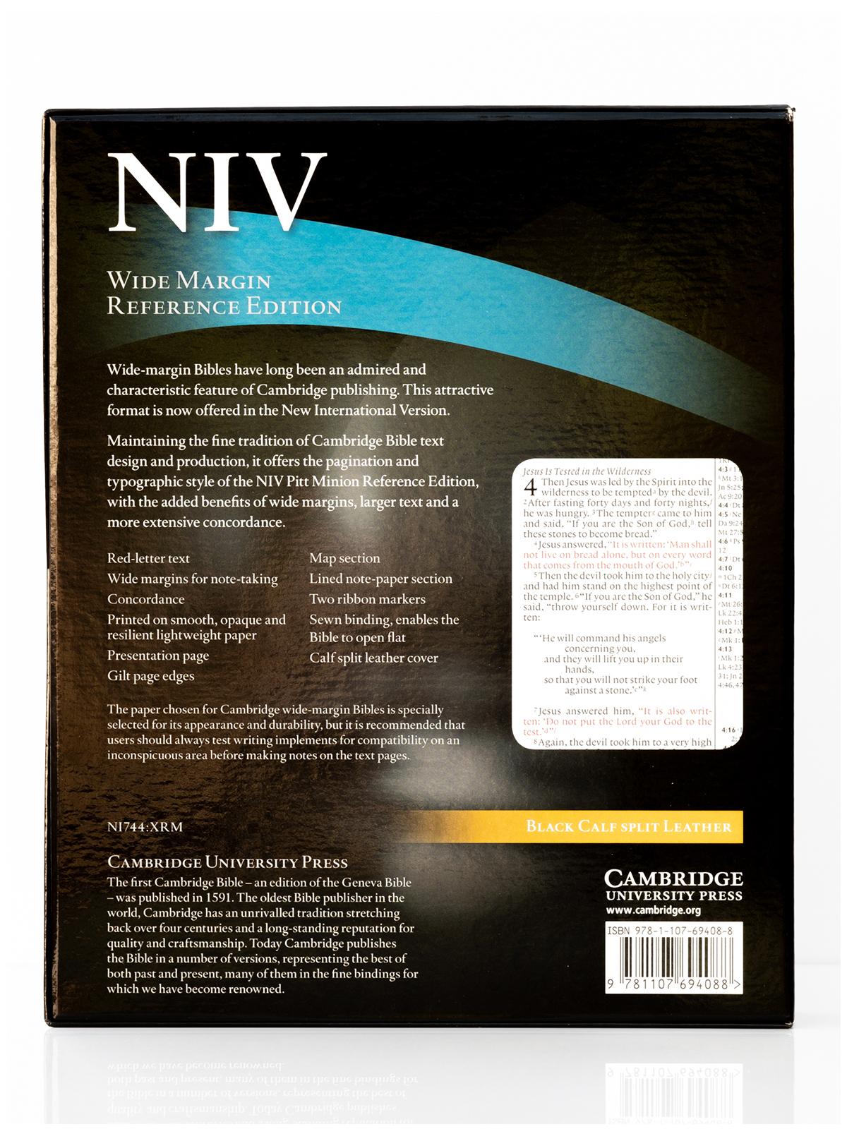 Cambridge NIV Wide Margin Back Cover