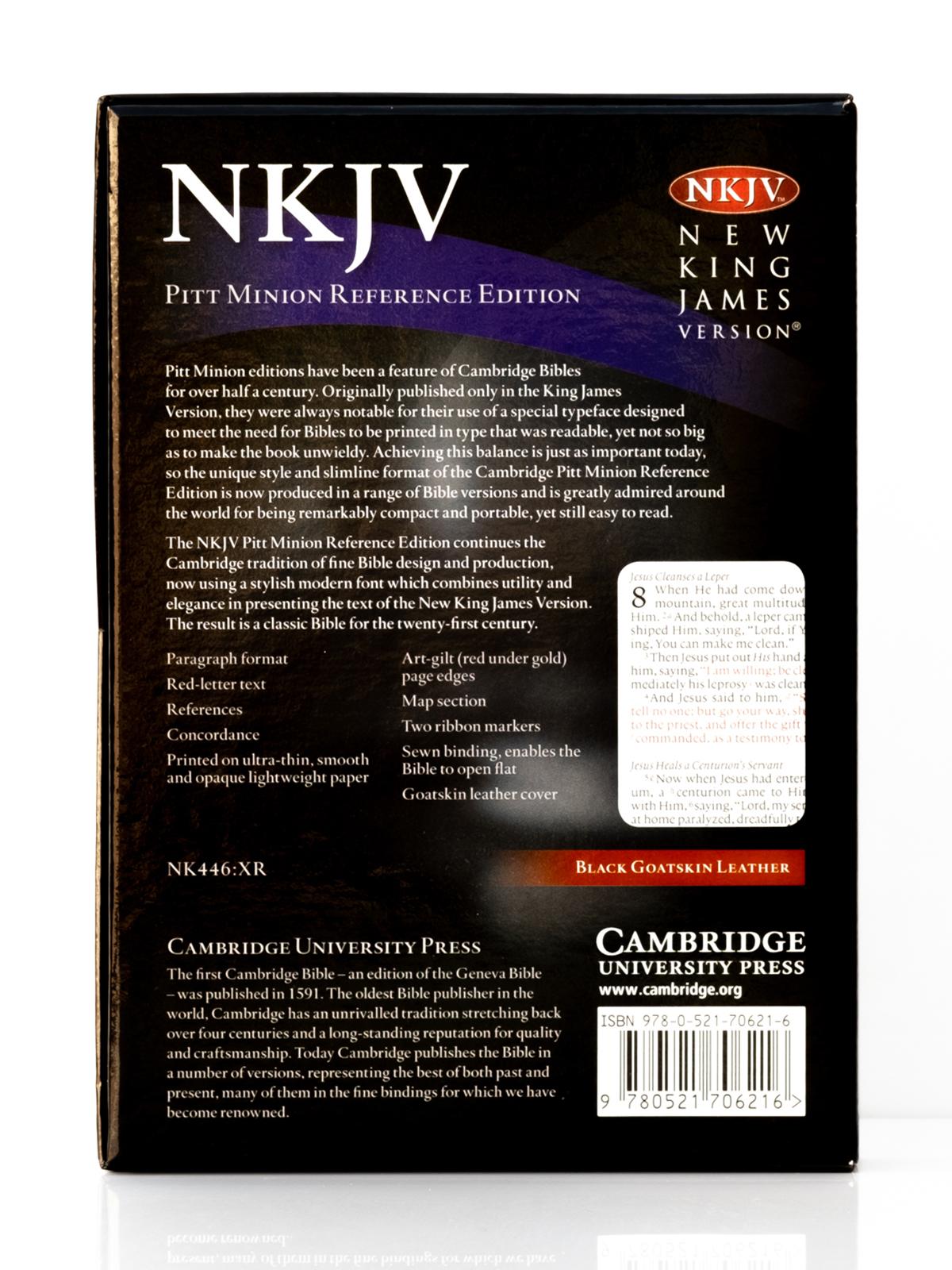 Cambridge NKJV Pitt Minion Back Cover