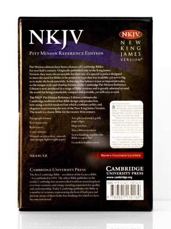 Cambridge NKJV Pitt Minion Brown Goatskin Back Cover