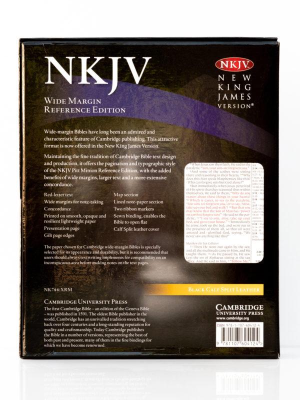 Cambridge NKJV Wide Margin Back Cover