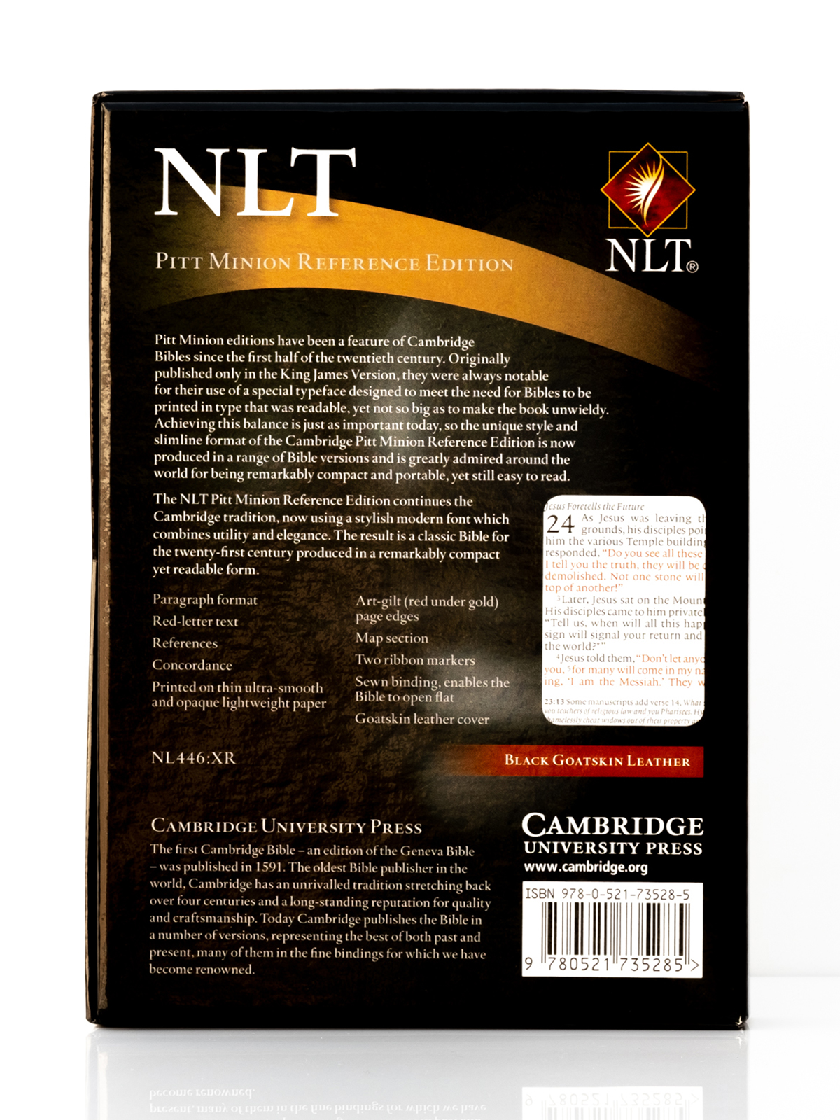Cambridge NLT Pitt Minion Back Cover