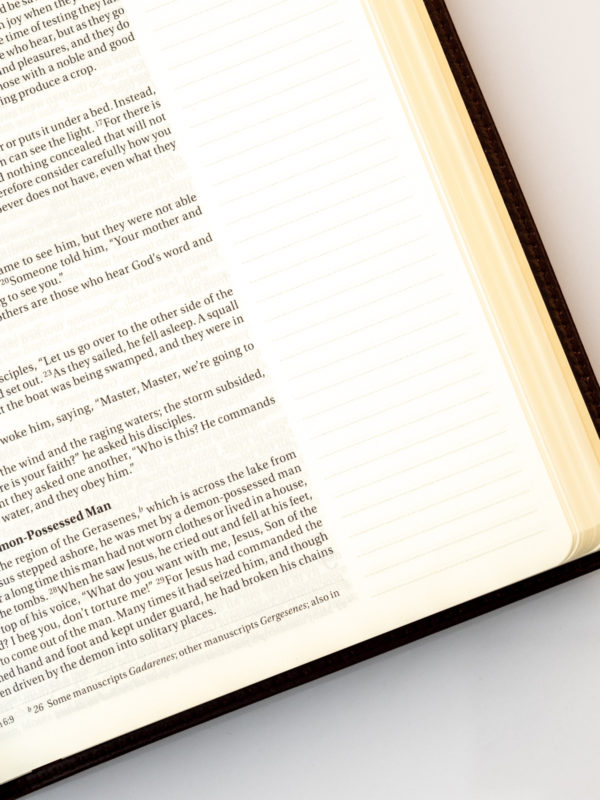 NIV Journal The Word Bible - Open