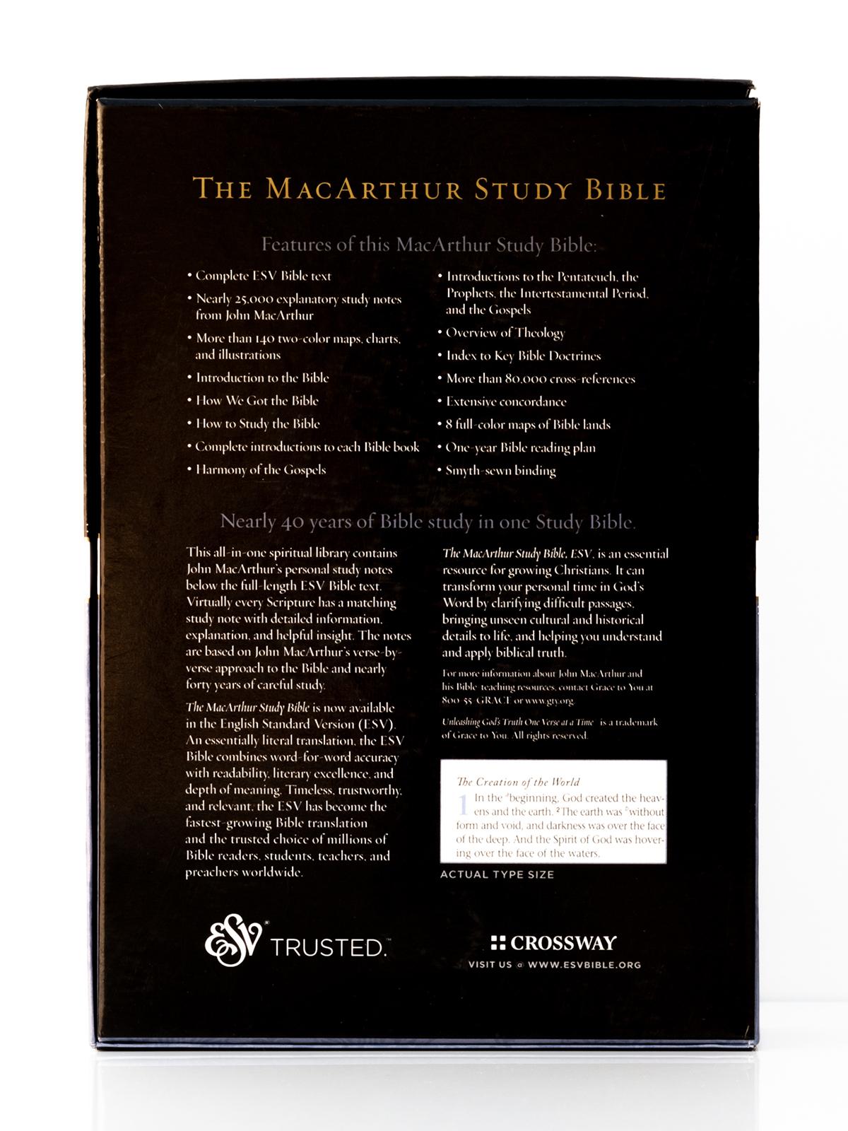 ESV MacArthur Study Bible Back Cover