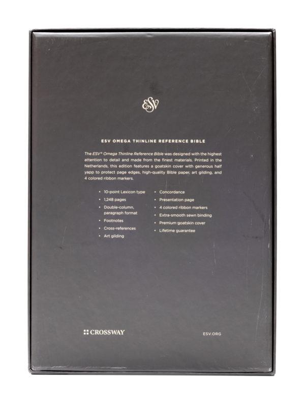 ESV Omega Bible Back Cover