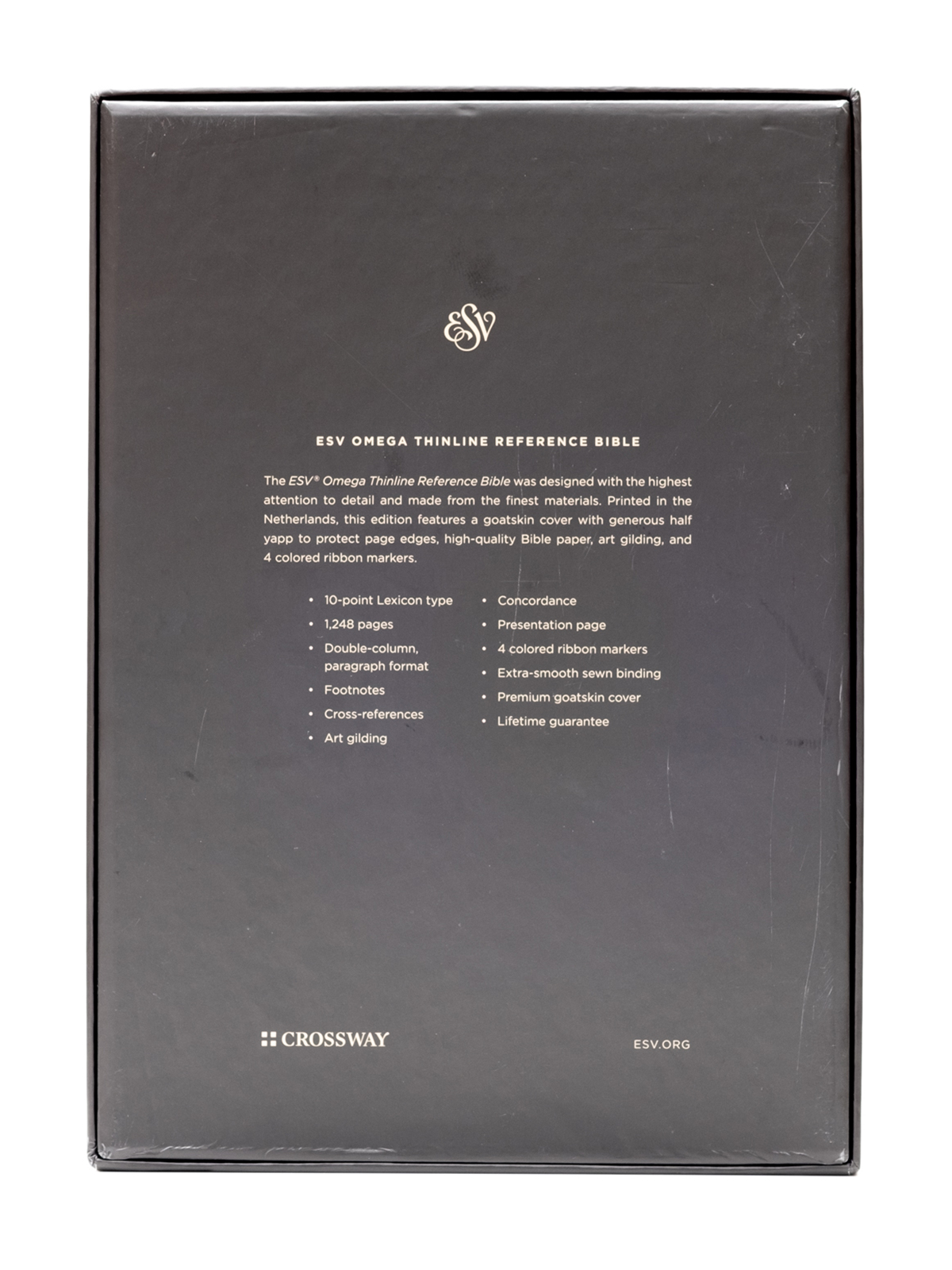 ESV Omega Bible Back Cover