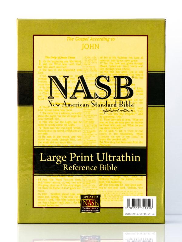 NASB Large Print Ultrathin Bible Box Cover