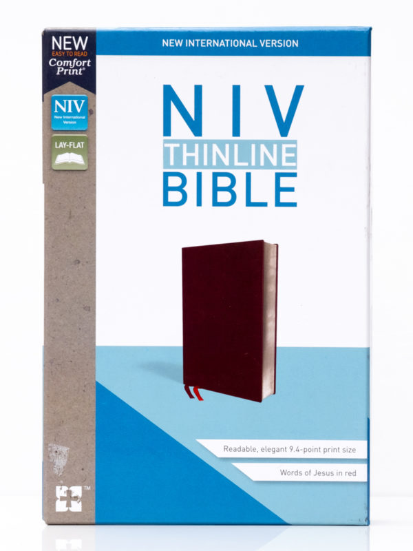 NIV Thinline Burgandy Front Cover