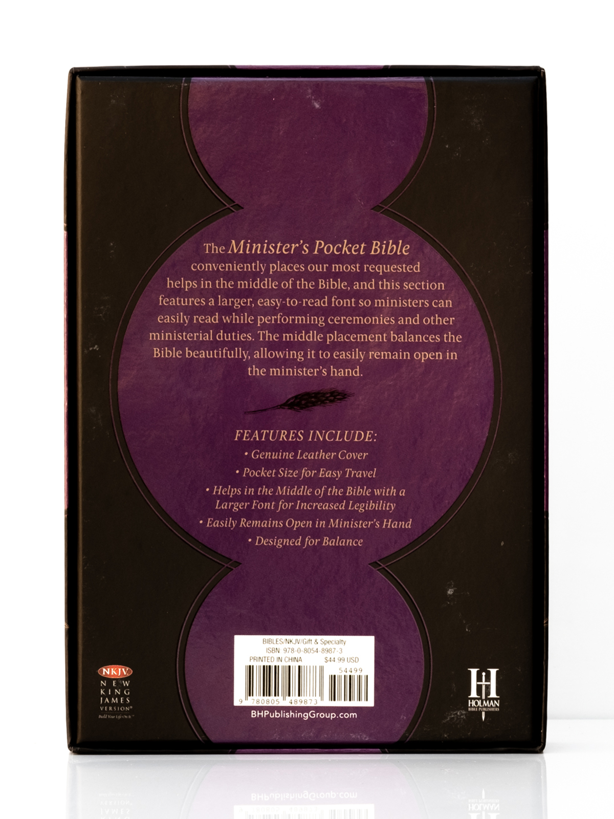 NKJV Ministers Pocket Bible Back Cover