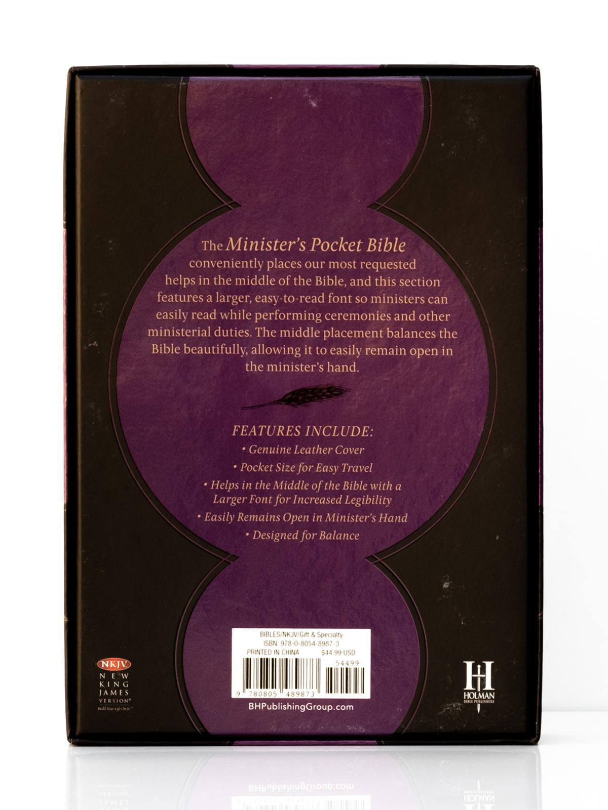NKJV Ministers Pocket Bible Back Cover