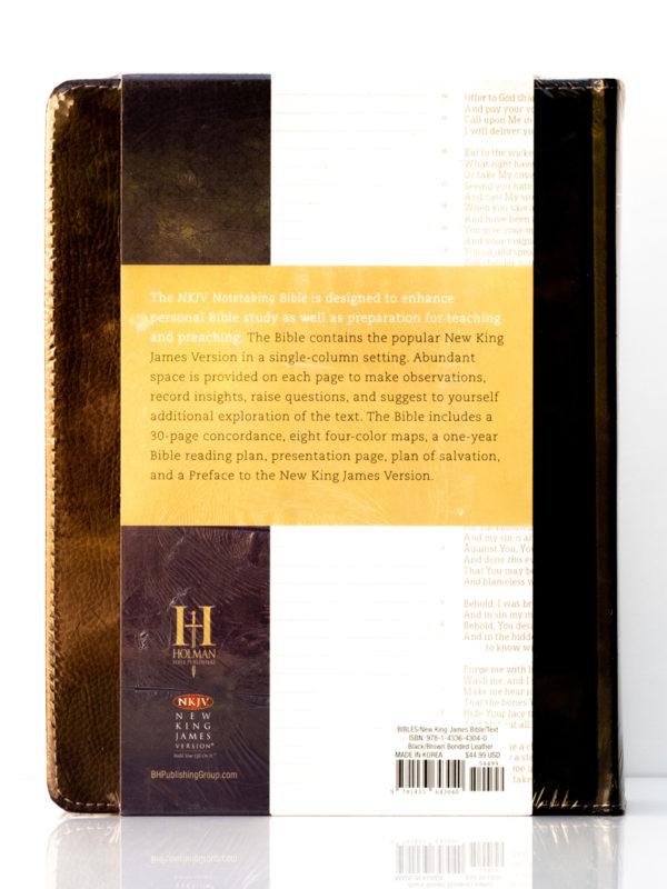 NKJV Notetaking Bible Back Cover