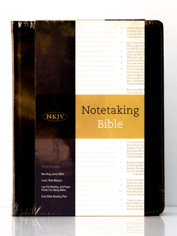 NKJV Notetaking Bible Front Cover
